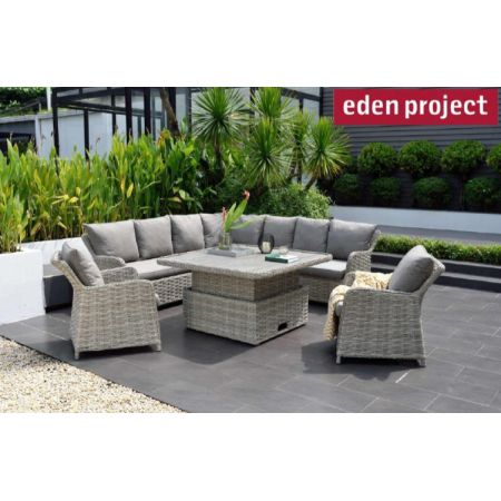 Samoa 120cm Square Corner Set & Sofa Chairs