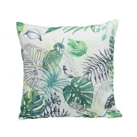 Cushion Outdoor Square Tropical Leaf Print